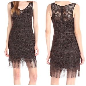 Jessica Simpson Lace Fringe Cocktail Dress
